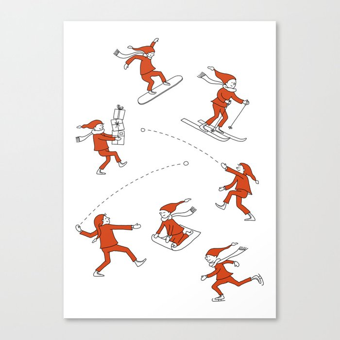 Christmas Elves Canvas Print