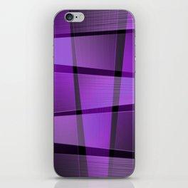 Creative purple pattern iPhone Skin