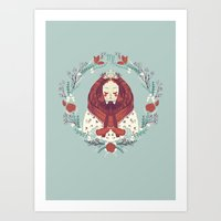 virgo Art Prints featuring virgo by Jelena Haeschke