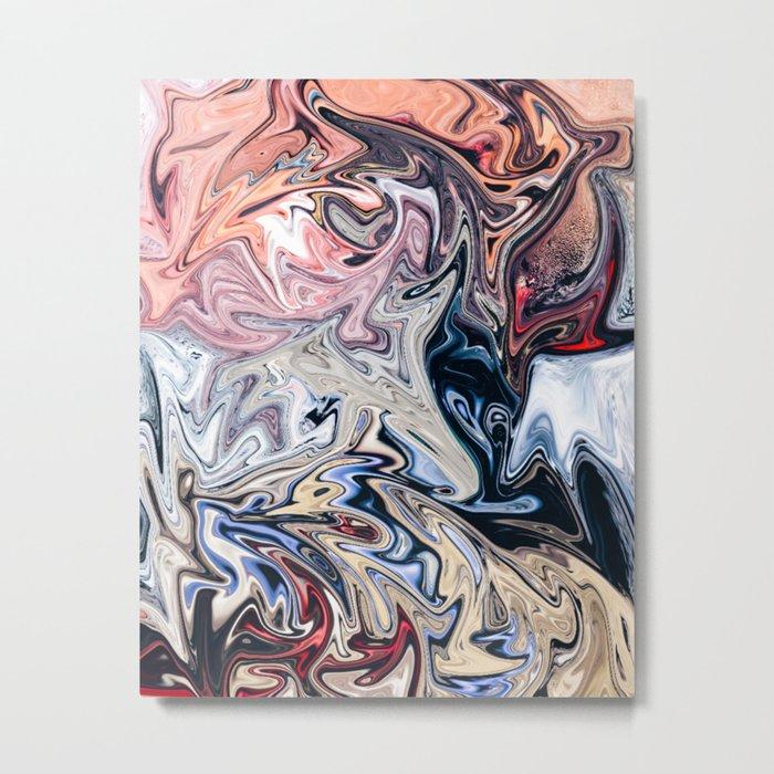 Shades of Pastel Metal Print