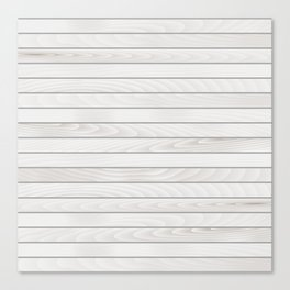 White Wood Texture Canvas Print