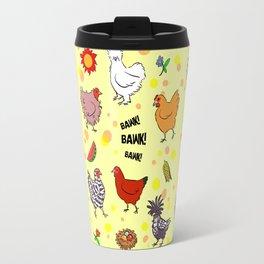 Cute seamless chickens pattern cartoon Travel Mug