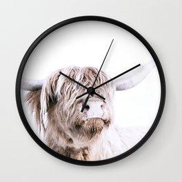HIGHLAND CATTLE PORTRAIT Wall Clock