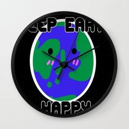 Happy Earth Wall Clock