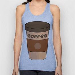 Coffee Cup Costume Tee, Espresso, Cappuccino, Latte print Unisex Tank Top