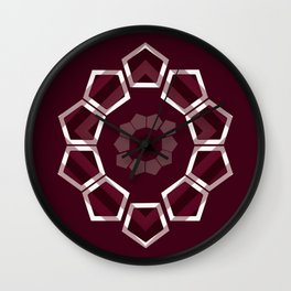 GeoFlower - Plumb Wall Clock