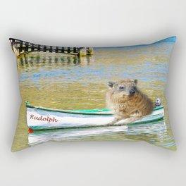 Rudolph at Sea Rectangular Pillow