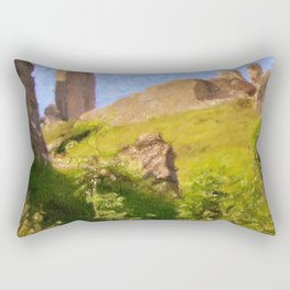 Corfe Castle Rectangular Pillow