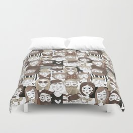 Crowd Pattern Duvet Cover
