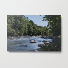 Farmington River Flowing Metal Print