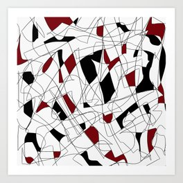Red, White, & Black Art Print