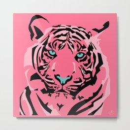 Pink Pop Tiger Metal Print