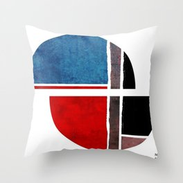 Blue & Red Sphere Throw Pillow