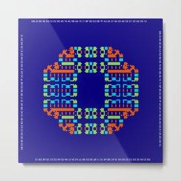 """Microchip"" 7  Metal Print"