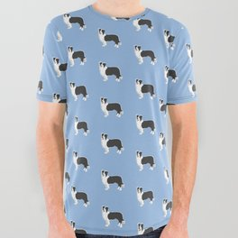 Border Collie All Over Graphic Tee