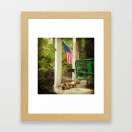 A Nap on the Porch, Washington Grove Framed Art Print