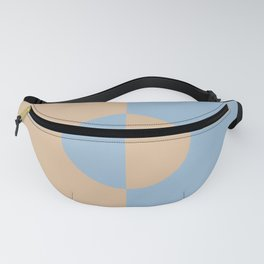 Pastel Blue Peach Minimal Circle Design 2021 Color of the Year Earth's Harmony and Sunwashed Orange Fanny Pack