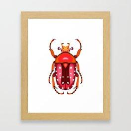 Orange and Red Beetle Framed Art Print