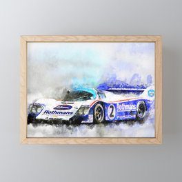 956 Le Mans, Jochen Mass Framed Mini Art Print