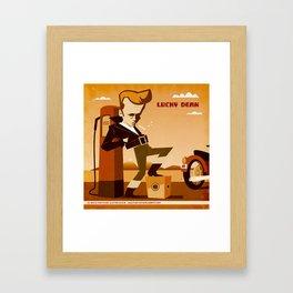 Lucky Dean Framed Art Print