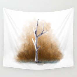 Watercolor Tree Wall Tapestry