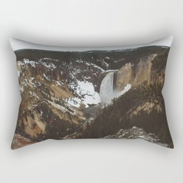 Overview of the Lower Falls Rectangular Pillow
