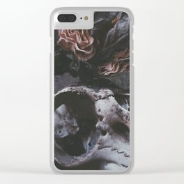 DEATH & ROSES Clear iPhone Case