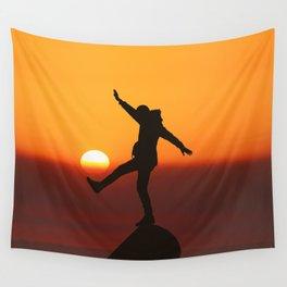 She Kicks the Sun (Color) Wall Tapestry