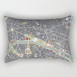 Paris city map engraving Rectangular Pillow