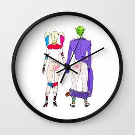 LOVE is no BUTT Joke Wall Clock