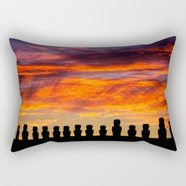 EASTER ISLAND SUNRISE Rectangular Pillow