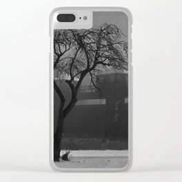 Stormy Hydroelectric Control gates Clear iPhone Case