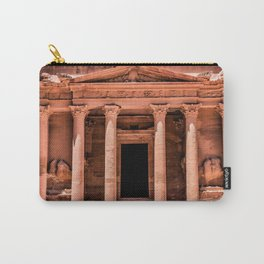 Treasury Entrance at the ruins of Petra, Jordan Carry-All Pouch