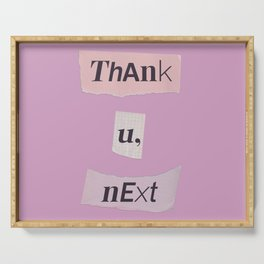 thank you next - Ariana - pink 2 Serving Tray