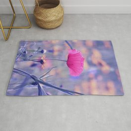 Soft Poppy Art Rug