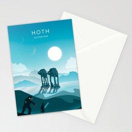 Hoth. Vintage illustration poster art. Stationery Cards