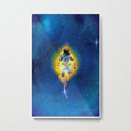 Lost Astronaut Metal Print