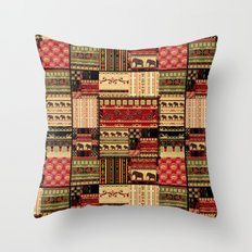 African patchwork. Throw Pillow