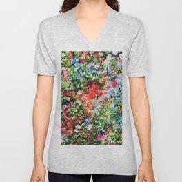 Floral V4 Unisex V-Neck