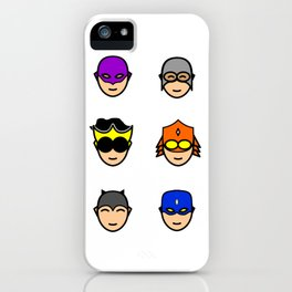 Teen Superhero Faces iPhone Case