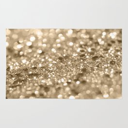 Champagne Gold Lady Glitter #2 #shiny #decor #art #society6 Rug