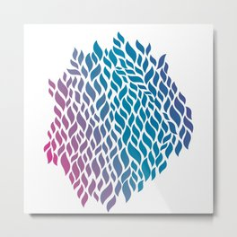 Color Flow Metal Print