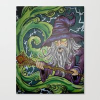 wiz khalifa Canvas Prints featuring The Wiz by mileshustonart