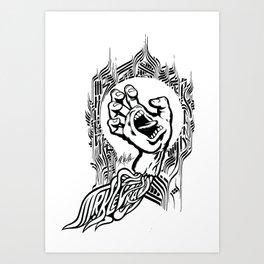 Screaming Klevra Art Print