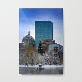 Winter in Boston Metal Print