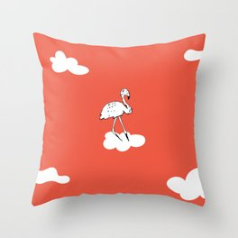 Flying Flamingo by McKenna Sanderson Throw Pillow