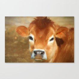 Adorable Cow Face Canvas Print