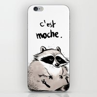 racoon iPhone & iPod Skins featuring Racoon by chacomics