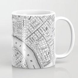 Vintage Map of New Orleans (1880) BW Coffee Mug