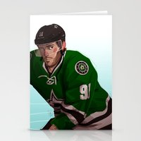 tyler spangler Stationery Cards featuring tyler seguin by molly murakami